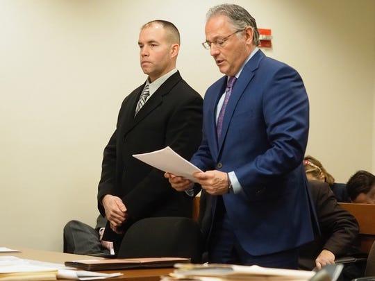Former Edison Police Officer Brian Favretto (left)