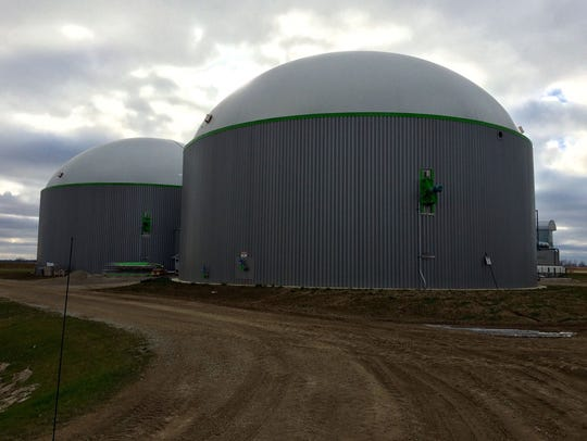 A biodigester at Rosendale Dairy - the state's largest