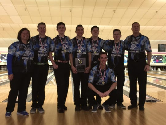 Salem's varsity boys bowling team finished second at Friday's MHSAA Division 1 team regional at Super Bowl.