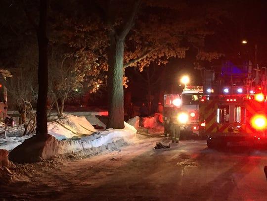 Crews battle a blaze on Wausau's east side, February