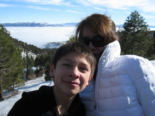 Liz Hill, his Big Sister in the Big Brothers Big Sisters of America program, took Saul Garcia on a trip to Tahoe when he was younger.