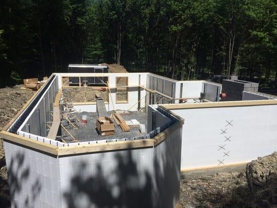 Greg Martin Construction used ICF on a Richford home.