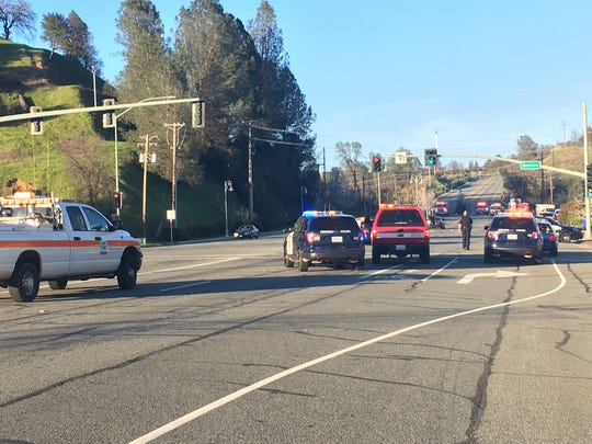 Southbound North Market Street was closed near Benton Drive in Redding after a fatal crash Friday afternoon.
