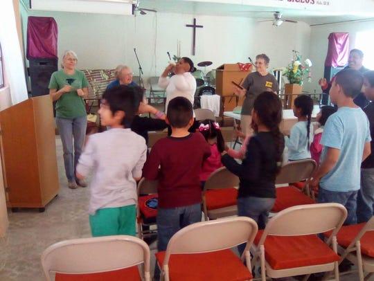 A church service in Rio Bravo, Mexico.
