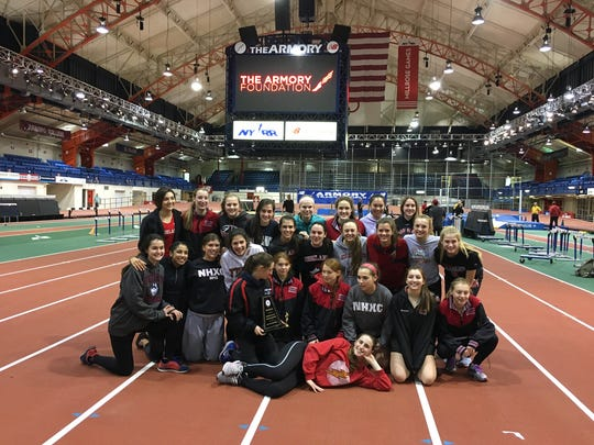 Northern Highlands girls  team named The Record girls Indoor Track team of the Year for the 2016-17 season.