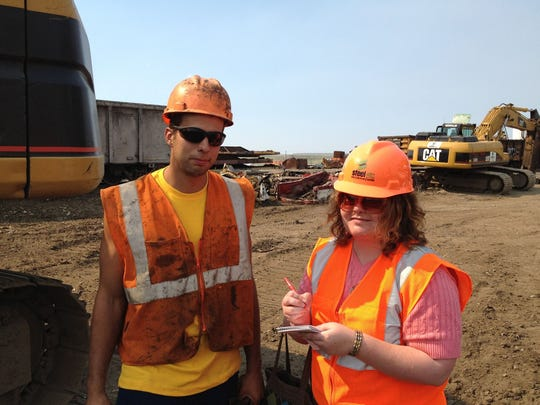 Reporter Kristen Inbody conducts an interview for a series featuring different jobs around the clock in Great Falls.