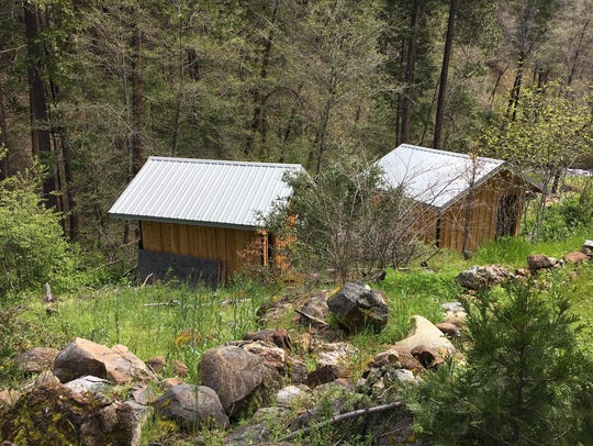 A cabin where authorities say Tad Cummins held a teenage former student for more than a week in rural Northern California.
