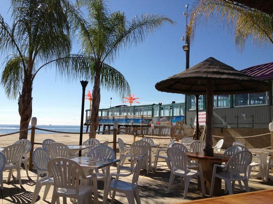 The outdoor area at Martell's Tiki Bar in Point Pleasant Beach.