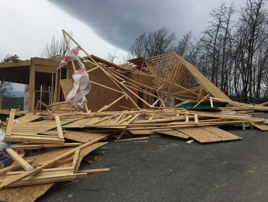 Glenn Warren's home under construction in Gatlinburg's