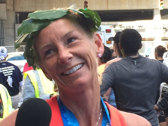 2017 Flying Pig Marathon women's champion Kerry Lee was thrilled to win, after several near-misses.