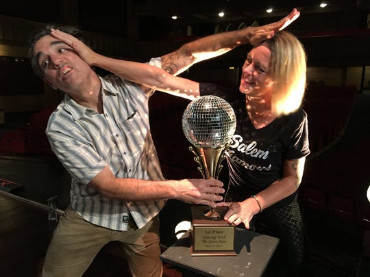 Dino and Leslie Venti will compete against each other and four other Salemites for the coveted Mirror Ball Trophy during Dancing with the Salem Stars 7:30 p.m. Saturday at the Elsinore Theatre.