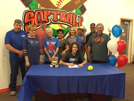 Burkburnett's Mackenzie Hooker signed to play softball at Lubbock Christian.