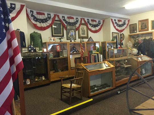 The Bethel Museum in the Grant Memorial Building at 100 S. Main St. features many military artifacts and a display from 'Worldwalker' Steven Newman's walk around the world.