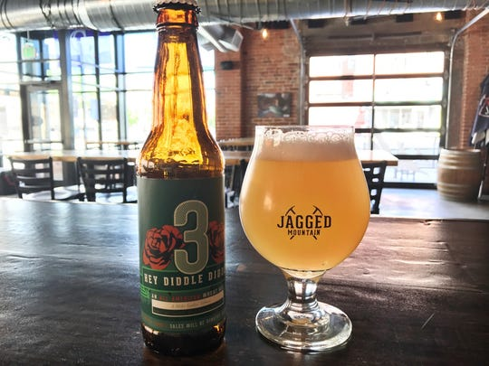 """The """"Hey Diddle Diddle"""" wheat ale created by Denver's Jagged Mountain Brewery in memory of former Michigan State punter Mike Sadler."""