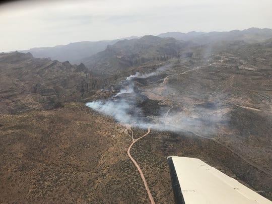 Tortilla Fire on State Road 88, east of Tortilla Flats.