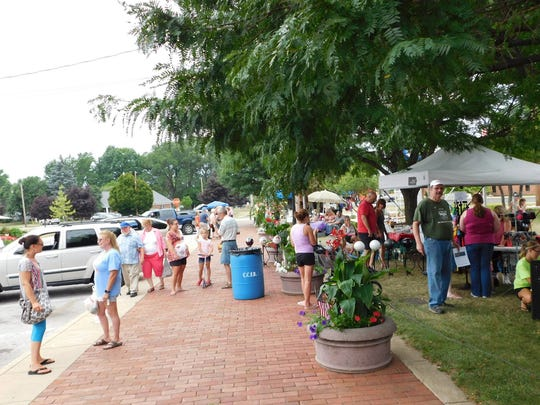 The Downtown Market in Clyde is located on Railroad Street at Main Street. Markets will be hosted monthly through the fall.