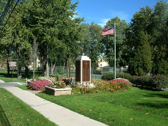 The West side of Edmund Lyon Park showcases a series of memorials honoring the East Rochester residents who served their country in times of war.