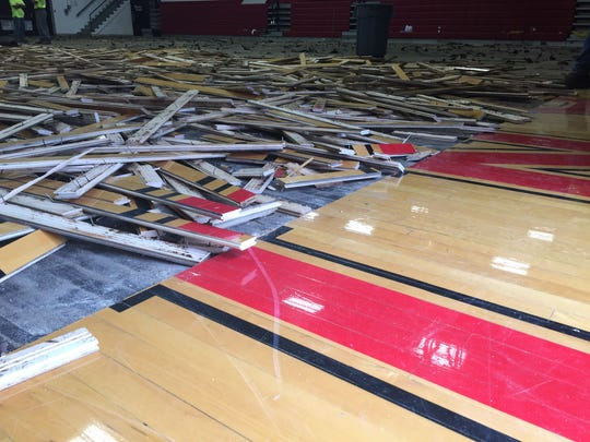 Wapahani's gym floor is being pulled up and will be