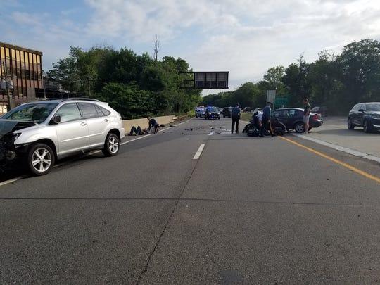 Delays on Palisades Interstate Parkway after crash blocks lanes