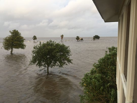 Flooding at Cypremort Point State Park.