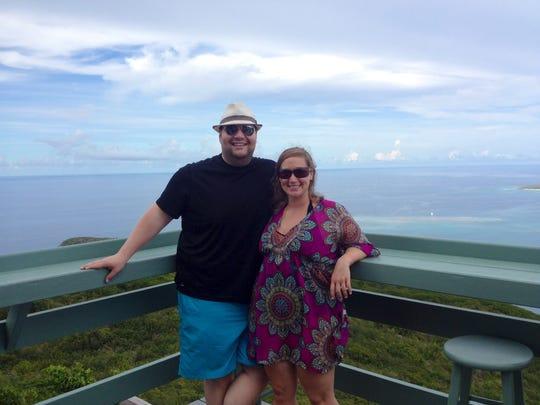 Matt and Leighanne Weeks at Virgin Gorda, a British Virgin Island, on their honeymoon.