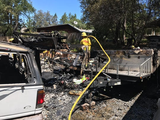 A fire on Fawndale Road was quickly extinguished by