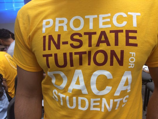 "The Maricopa County Community College District board room was filled to capacity with DACA students who awaited the board's decision on whether to appeal a court ruling that would prohibit students known as ""dreamers""from receiving in-state tuition in Arizona."