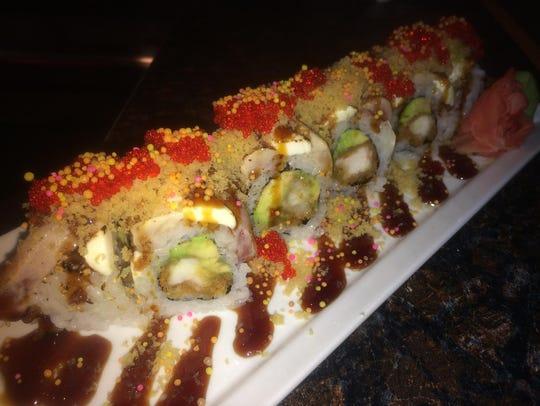 A cherry bomb roll from Matsu-Ya Sushi Bar & Grill