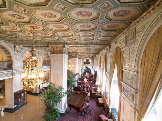 Lobby of the Brown Hotel in Louisville, Kentucky