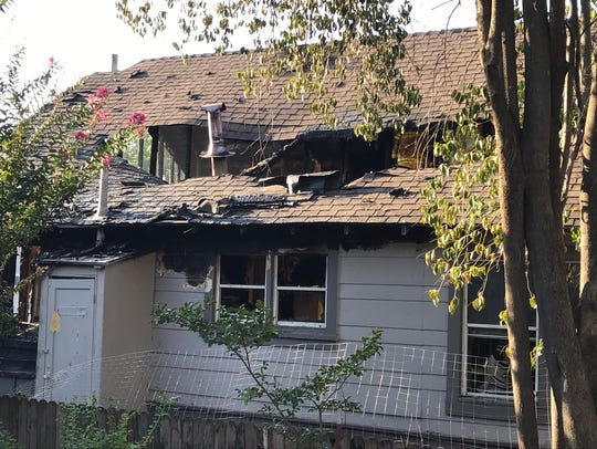A fire started at a home on Magnolia Avenue due to