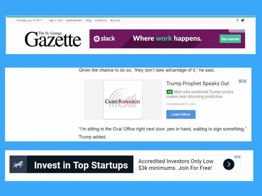 The St. George Gazette and other fake news sites, such