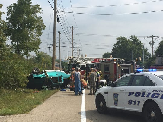 Colerain Township, Ohio firefighters/paramedics are on the scene of a 2016 accident on Pippin Road.
