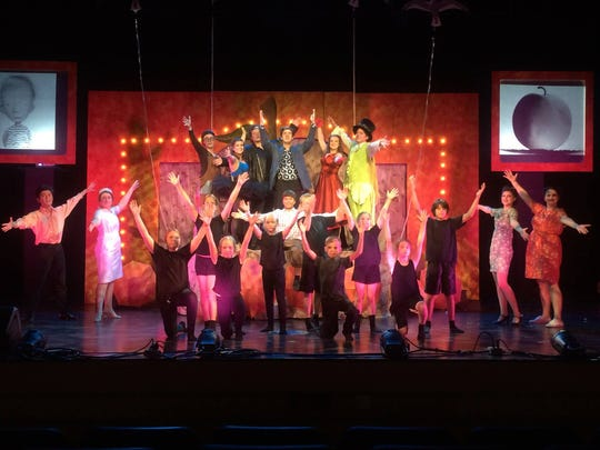 """Cedar Summerstock Theater in its production of """"James and the Giant Peach"""" earlier this summer."""