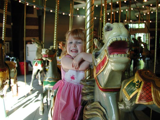 This carousel, which dates to 1912 and was originally