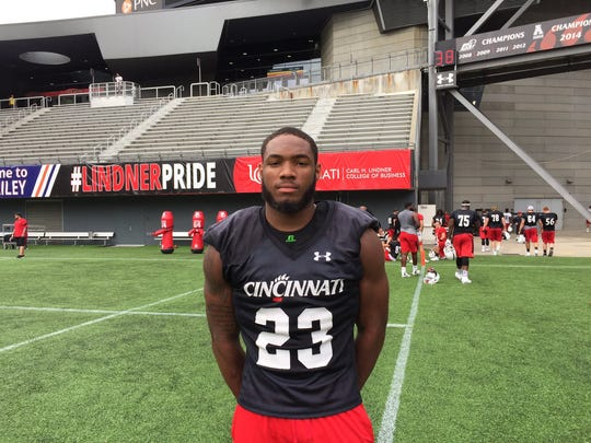 Redshirt freshman running back Gerrid Doaks, an Indianapolis Lawrence Central product, is set to be the primary backup to Mike Boone for the 2017 Cincinnati Bearcats.