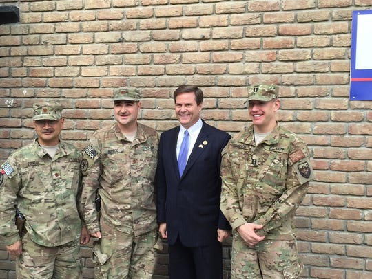 U.S. Rep. Donald Norcross, visiting with troops in Afghanistan in 2015, has been named to lead the House Armed Services Committee's Tactical Air and Land Forces Subcommittee.