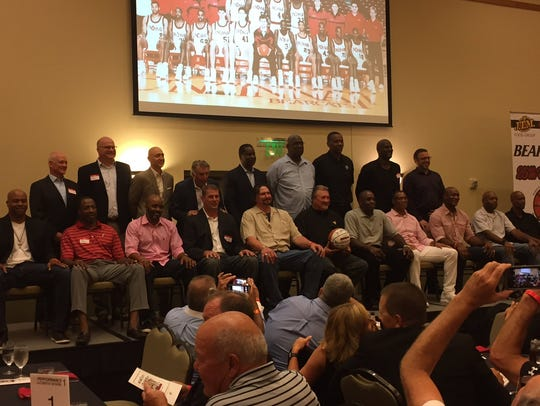 The 1992 UC Final Four team regroups for a team photo,