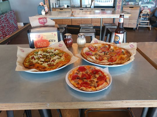 Mod Pizza in Redfield Promenade features build-your-ownn pies with more than 30 topping choices.
