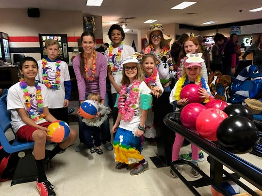 "One of Big Brothers Big Sisters of Fond du Lac County's major fundraising events is Bowl for Kids' Sake. Among those attending the event, from left are Littles and Bigs: Houston, ""Little"" boy, Reanna, Kiana, Aliyah, ""Little"" girl and Brooke, with friends."