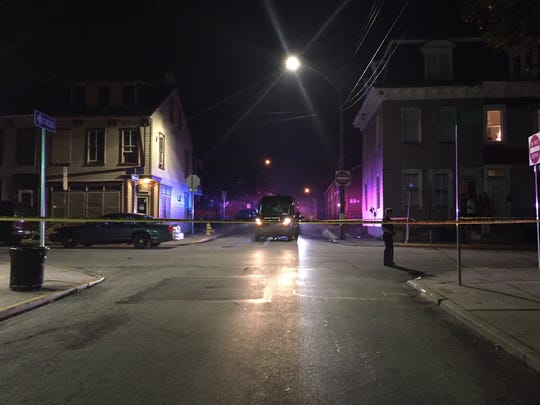 York City Police at the scene of a reported shooting on South Duke Street in York Wednesday night.