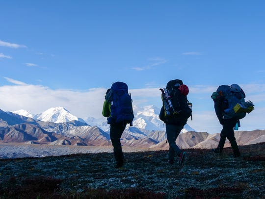 A expedition team from Warriors to Summits treks to