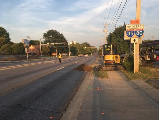A gas leak at Beaverdale and Douglas avenues resulted