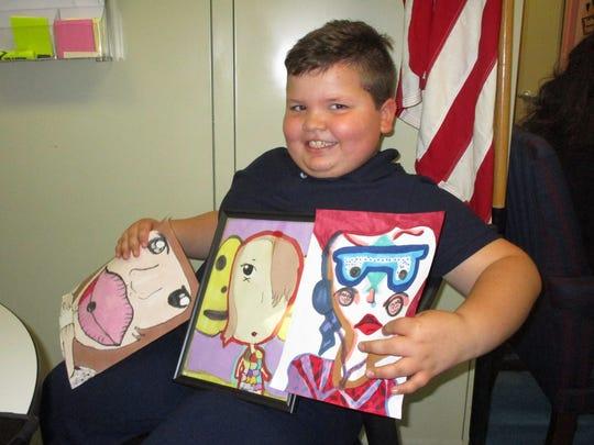 Giovanni Palmucci, a second-grader at School No. 1
