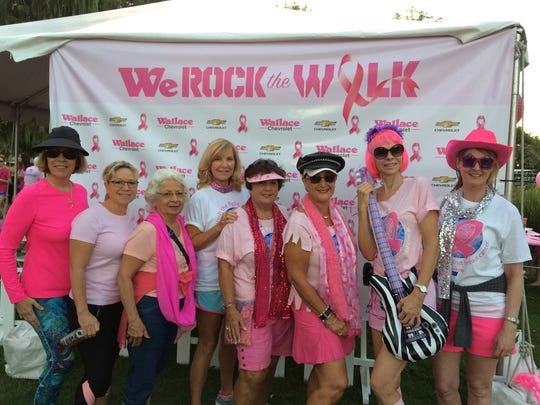 Participating in last year's Making Strides Against Breast Cancer Martin County walk were GFWC Woman's Club of Stuart members Mona Salisbury, Carol Lochead, Connie Morgolo, Libby Crosswhite, Carolyn Hall, Janie Copes, Pat Schmader and Tonya Axton