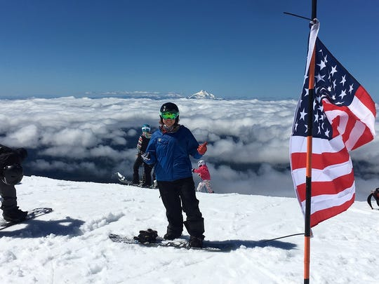 Brittani Coury suffered a severe ankle fracture on Dec. 24, 2003, while snowboarding. After receiving a prosthetic leg in 2011 and going through extensive rehabilitation, the Aztec native is training for the 2018 Winter Paralympic Games in Pyeongchang, South Korea.
