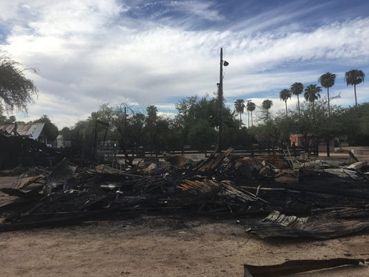Fire at Sahuaro Ranch Park