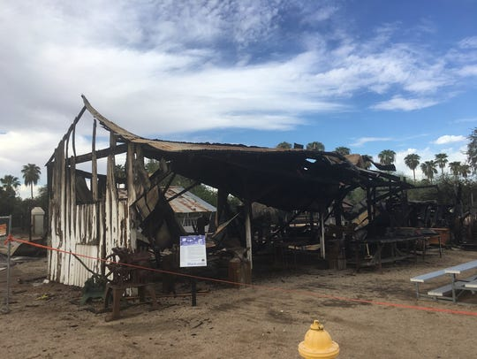 Fires damaged multiple structures at Sahuaro Ranch