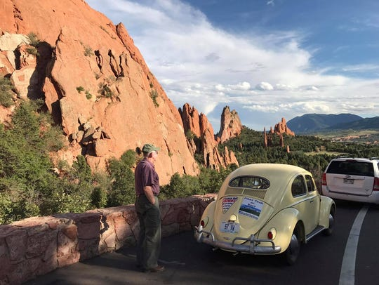 At Garden of the Gods in Colorado. Sam Schaumann and