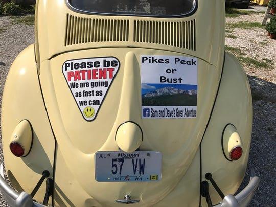 Sam Schaumann and Dave Kucera drove this 1957 Volkswagen