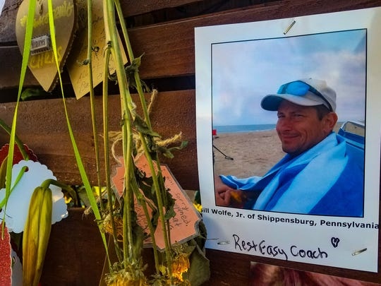 A picture of Bill Wolfe Jr.'s memorial at the Remembrance Wall in Las Vegas. Wolfe, a Shippensburg resident, was killed in the shooting on Oct. 1.